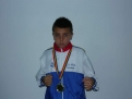 PÂRVULESCU OCTAVIAN 14 ani 1 medalie aur, 1 medalie argint